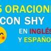 25 Oraciones Con Shy En Inglés | Sentences With Shy