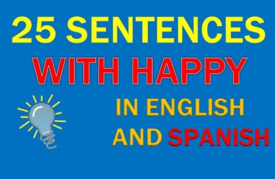 sentence with happy