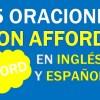 25 Oraciones Con Afford En Inglés ✔ Frases Con Afford ⚡