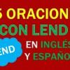 25 Oraciones Con Lend En Inglés ✔ Geniales Frases Con Lend 🥇