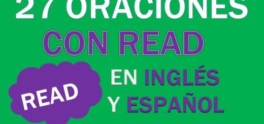Oraciones Con Read En Inglés