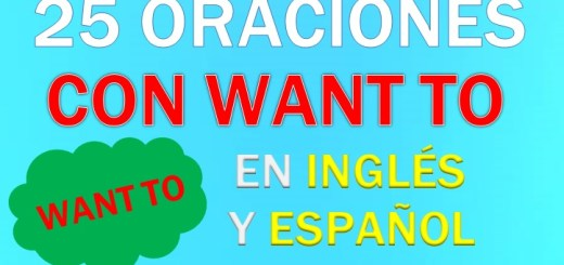 Oraciones Con Want to En Inglés
