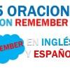 25 Oraciones En Inglés Con Remember   Geniales Oraciones Con Remember