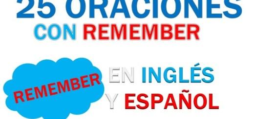 Oraciones En Inglés Con Remember