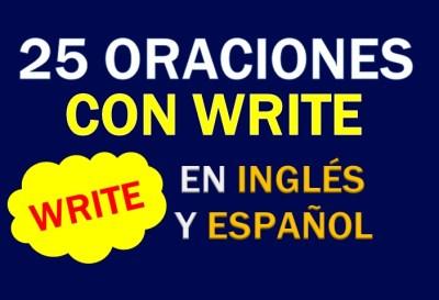 Oraciones En Inglés Con Write