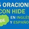 25 Oraciones Con Hide En Inglés ✔ Geniales Frases Con Hide ⚡