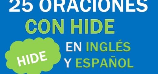 Oraciones Con Hide En Inglés