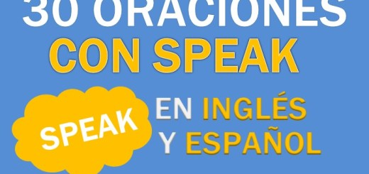 Oraciones Con Speak En Inglés