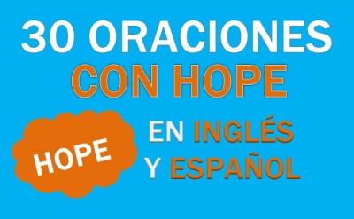 Oraciones Con Hope En Inglés