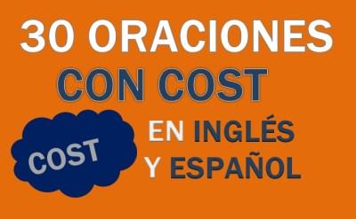 Oraciones Con Cost En Inglés