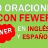 30 Oraciones Con Fewer En Inglés | Frases Con Fewer