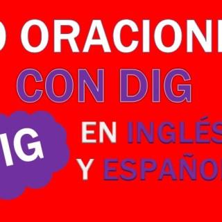 Oraciones Con Dig En Inglés