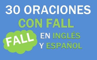 Oraciones Con Fall En Inglés