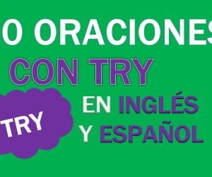 30 Oraciones Con Try En Inglés | Frases Con Try