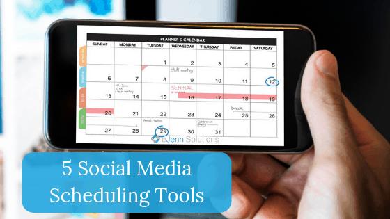 5 social media scheduling tools