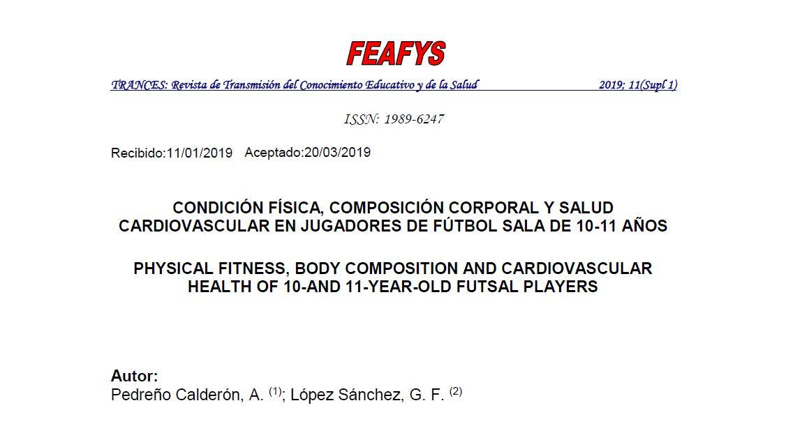 Estudio sobre parámetros saludables en jugadores de fútbol sala de categoría base