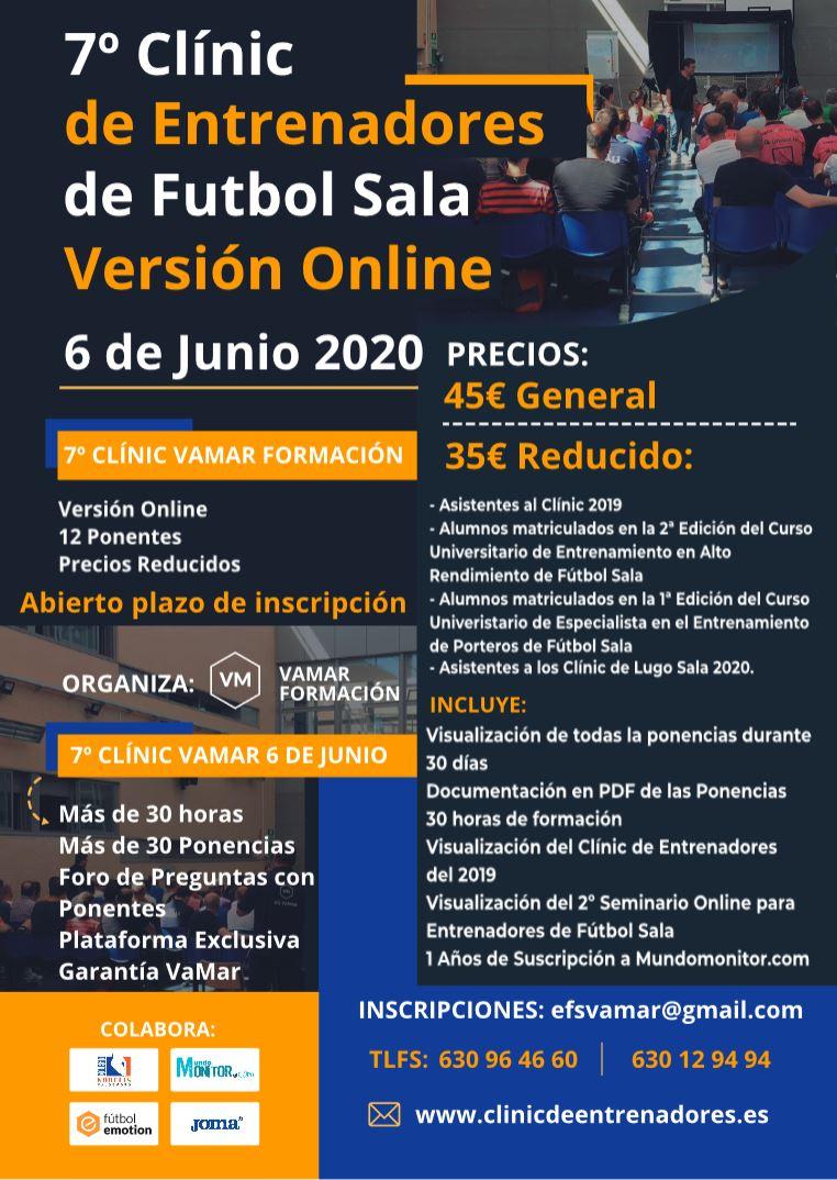 7º Clínic de Entrenadores de Fútbol Sala VaMar Formación. Versión Online