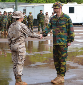 The Spanish captain takes over command of the Protection Force