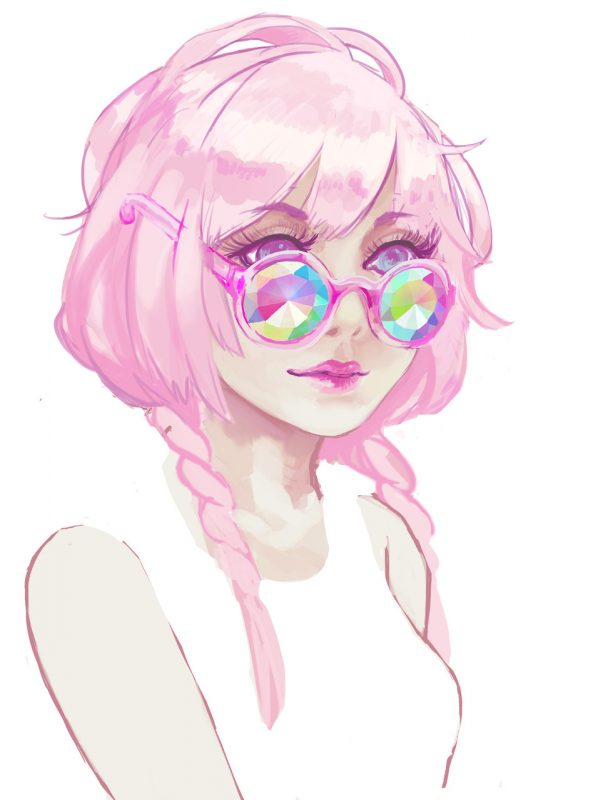 Hair Girl Short Brown Characters Cartoon