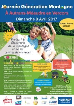 EJN02 - Autrans Méaudre - Journée génération Montagne - Affiche