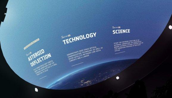 Screenshot of AIM full dome video for Planetariums.