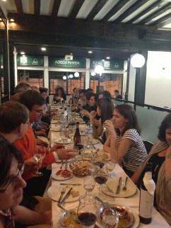 Team dinner in Lisbon, Portugal 2013