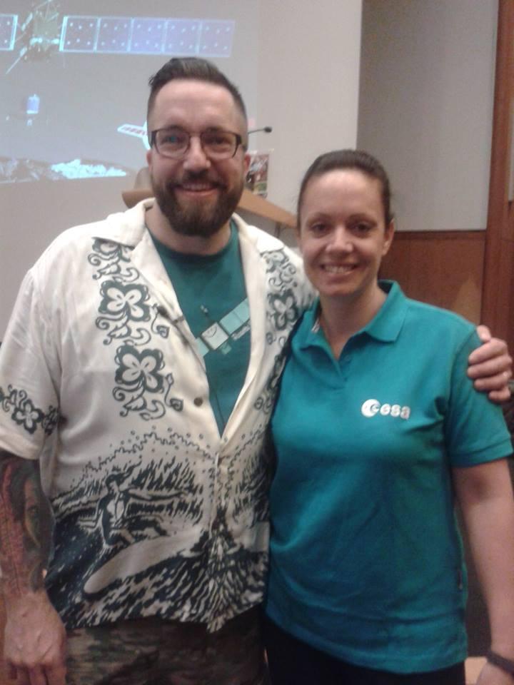 Karina with Rosetta scientist Matt Taylor.