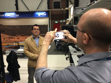 Behind the Scenes with editor Sean Blair as he hosts a Facebook LIVE session at ESTEC, the Netherlands.