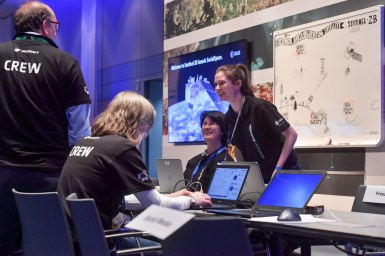 #Sentinel2Go social media launch event at ESOC, Darmstadt, Germany, 6-7 March 2017. Image credit: ESA/J. Mai