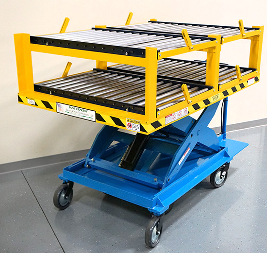 Top View Fork Lift Boom