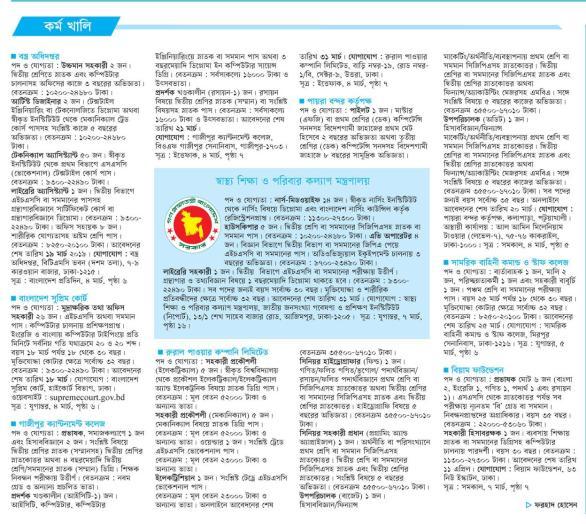 weekly Job newspaper kaler kantho