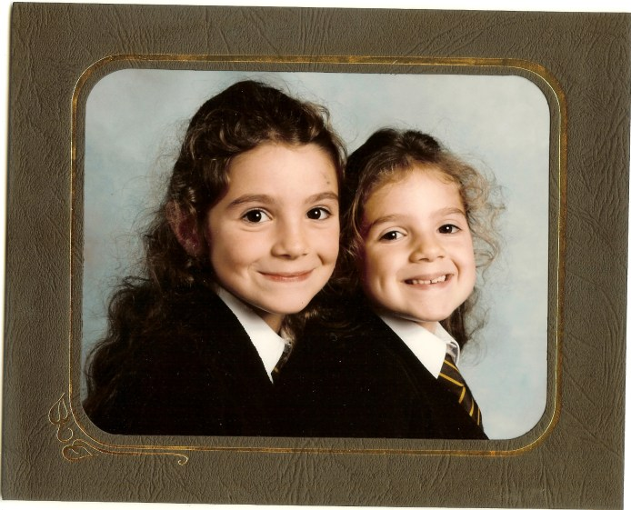 20 years ago - me on the left age 6 and my sister age 5