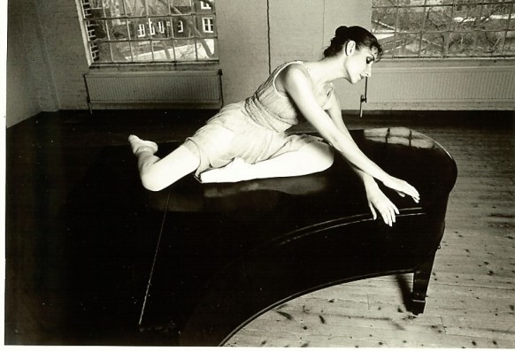 Posing on the piano