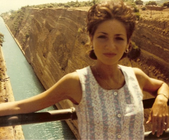 Mum at the Corinth Canal aged 21