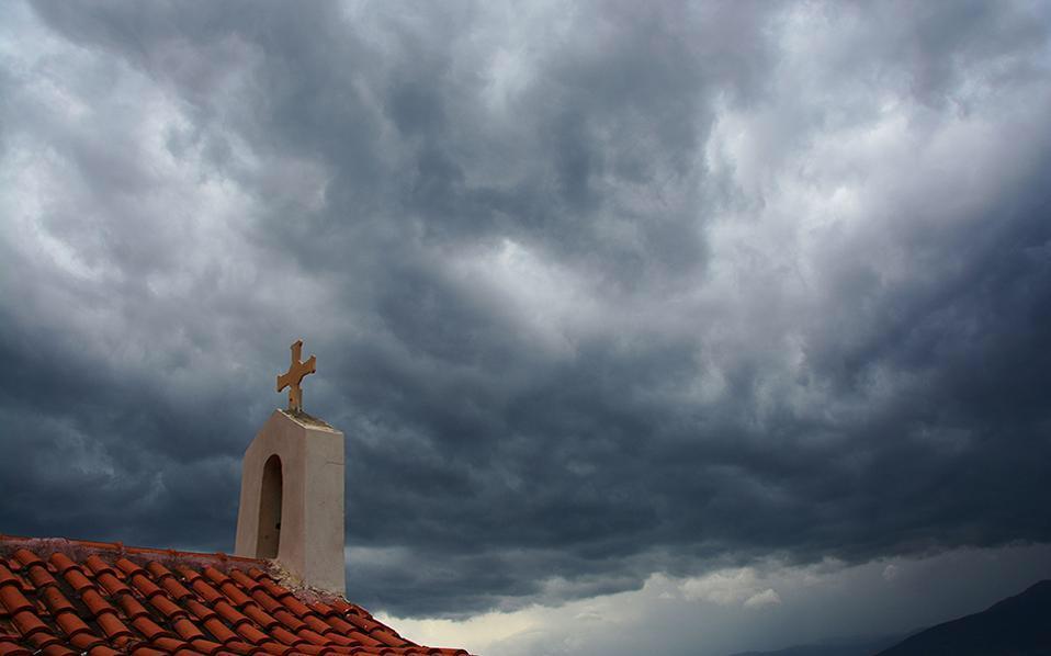 tempo chuva igreja rain church
