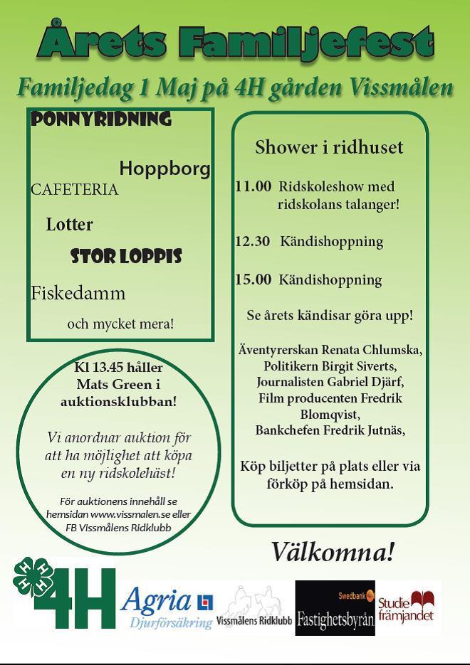 Familjedag 4H gården Vissmålen 2013
