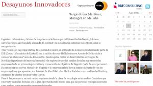 Sergio en DesayunosInnovadores.com