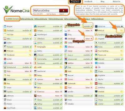 Namechk - analisis Herramientas Online e-Kikus.com
