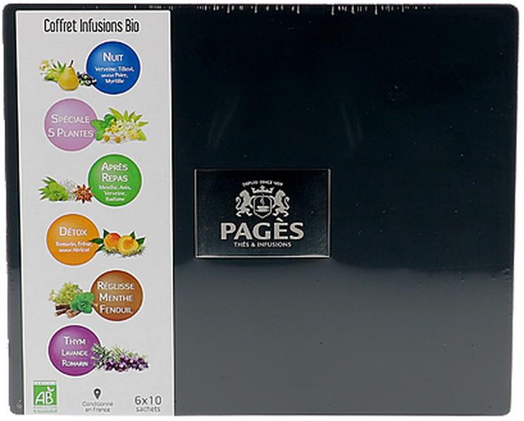 coffret en bois infusion bio pages x 60 sachets