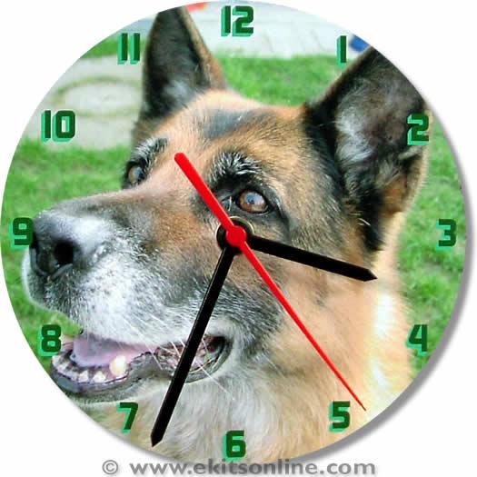 Alsation Dog Clock