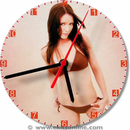 Beach Girl Clock