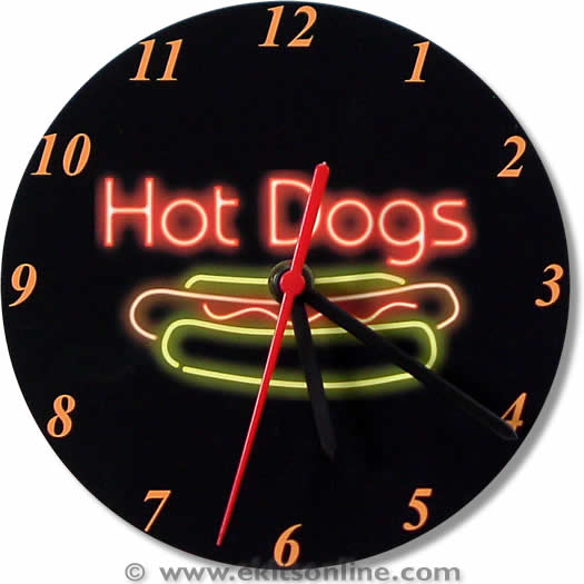 Hot Dogs Clock