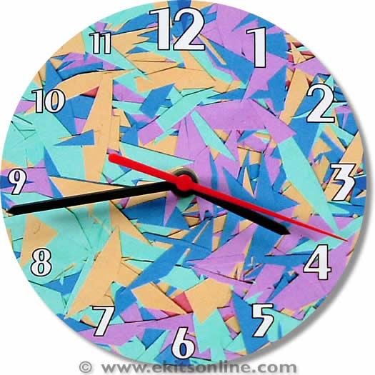 Paper Shards Designer Clock
