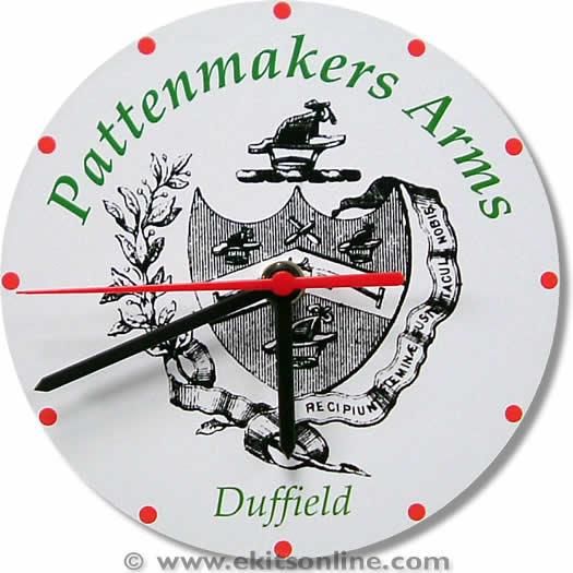 Patternmakers Logo Clock