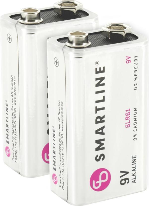 Alkaliska Batterier 6LR61 9V 2-Pack