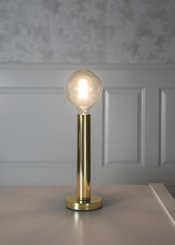 Glans Lampfot E 27 Mässing