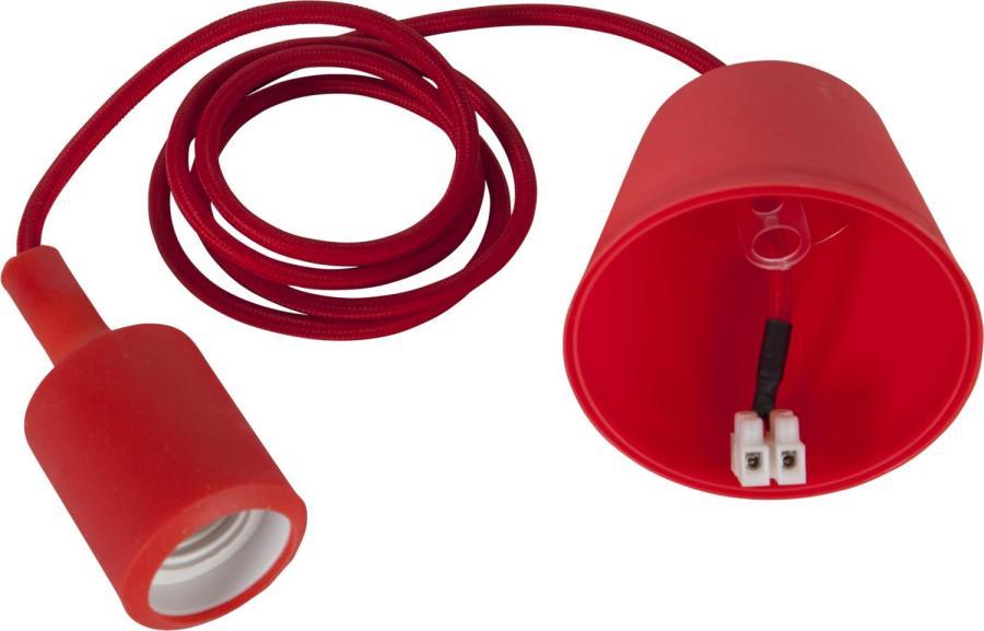 Sladdställ E27 Color Red