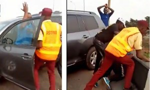 Motorist Knocks Police Officer Into Canal In Lagos