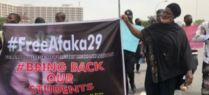 JUST IN: Parents Of Abducted Kaduna Students Protest At National Assembly