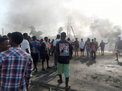 BREAKING: Youths Currently Protesting In Rivers, Southern Kaduna Youths, Protesting student